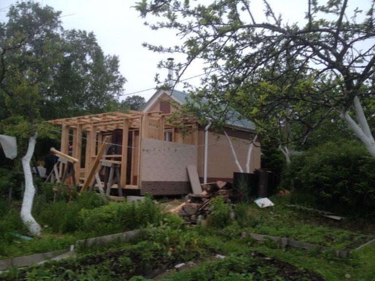 строительство мансарды из дерева