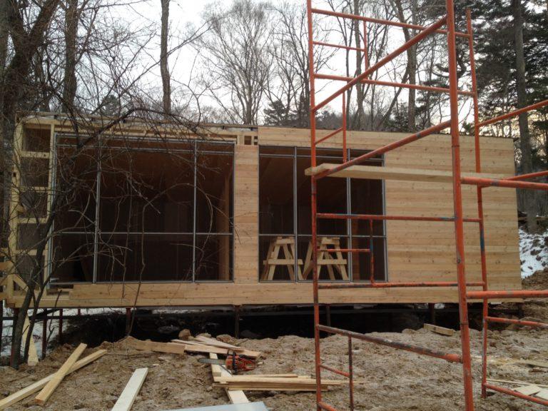 строительство гостевого каркасного домика Шамора