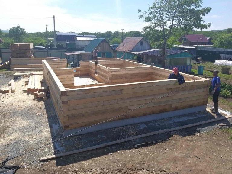 строить дом из бруса в домашлино