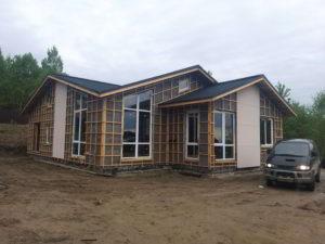 каркасный дом в артеме, строительство