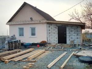 пристройка из газоблока в Приморском крае, строительство